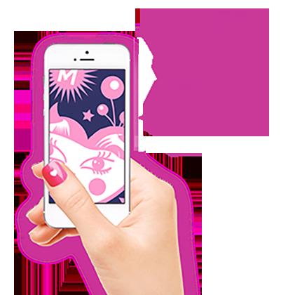 Dit is de link naar de Meidenfijn landingspagina voor meisjes waar ze de app kunnen downloaden